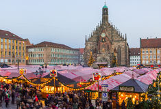 Christkindlesmarkt- Main Market Square-Nuremberg, Germany Royalty Free Stock Image