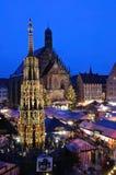 Christkindlesmarkt in Nuremberg Stock Afbeeldingen