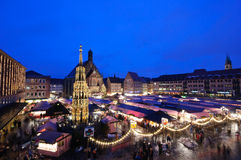 Christkindlesmarkt in Nuremberg royalty free stock image