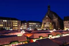 Christkindlesmarkt (Weihnachtsmarkt) in Nürnberg Stockfotografie