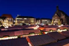 Christkindlesmarkt (Weihnachtsmarkt) in Nürnberg Stockbilder