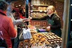 christkindlmarkt αγορά Βιέννη Χριστουγέ&n Στοκ Φωτογραφία