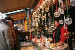 Christkindlmarkt - de Markt van Kerstmis van Wenen Stock Foto's