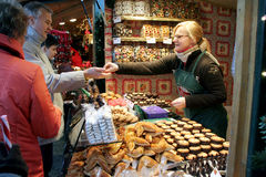 christkindlmarktjulen market vienna Arkivbild