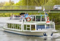 Christl ship on River Regnitz Royalty Free Stock Photography