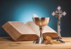 Christliche heilige Kommunion Stockbilder