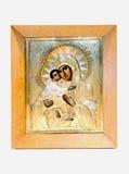 Christliche Ikone mit dem Gesicht Vladimir Mothers von Gott holdi Stockfotografie