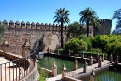 Christliche Könige Fortress, Cordoba, Spanien. Lizenzfreies Stockfoto