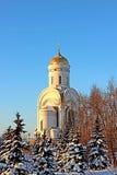 Christliche Kirche in Moskau Stockbild