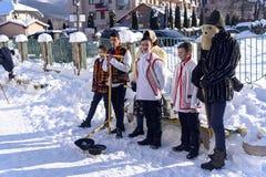 Christliche Liede, Ukraine, Transcarpathian Region, Polyana-Dorf, Januar stockfoto