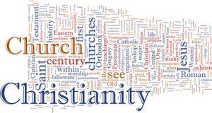 Christliche Wortwolke Stockbild