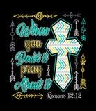 Christlicher Entwurf mit Kreuz lizenzfreie abbildung
