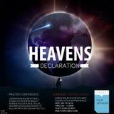 Christlicher religiöser Entwurf der Himmelserklärungen für Gebetskonferenz lizenzfreie abbildung
