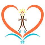 Christlicher Symbolismus, Sakramente, fliegende Taube, kreuzen mit Tropfen I Stockbild