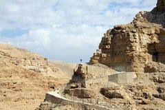 Kreuz in der Wüste Stockfotos