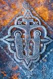 Christliches Kreuz und Jesus Lizenzfreies Stockbild