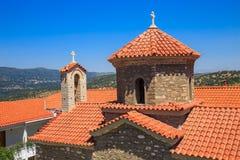 Christliches orthodoxes Kloster in Malevi, Peloponnes, Griechenland Lizenzfreies Stockbild