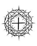 Christliches Symbol von Jesus Christ Crown von Dornen Lizenzfreie Stockbilder