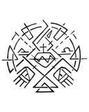 Christliches Symbol von Jesus Sacred Heart und von Händen Lizenzfreies Stockfoto