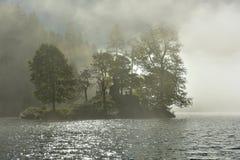 Mystery Island in the Lake Königssee near Berchtesgaden, Bavaria, Germany Royalty Free Stock Photo