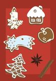 christma曲奇饼 库存照片