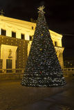 Christma tree on King George of Pod�brady Sq. Royalty Free Stock Image