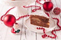 Christmad cake stock photography