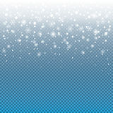 Christmas Snowfall Stock Photo