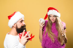Christman happy pair Stock Images