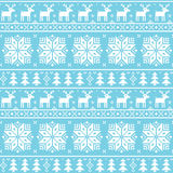 Christman nordic seamless pattern - deer, snowflakes and trees Royalty Free Stock Photo