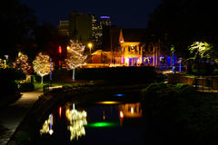 Christman on the Riverwalk Royalty Free Stock Images