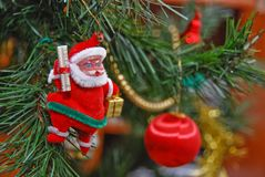 On the christman-tree Royalty Free Stock Images