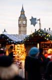 Christmans市场在伦敦 免版税库存图片