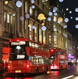 Christmas' atmosphere in London royalty free stock image