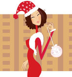 Christmas �santa� woman Royalty Free Stock Photos