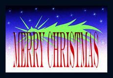 Christmas greeting card with stylized shooting sta Stock Photography