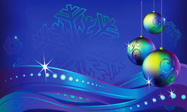 Christmas. Graphic drawing, Christmas theme, New Year's spheres royalty free illustration