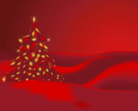 Christmas. Illustration of a christmas tree Stock Image