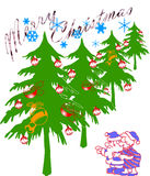 Christmas. Design,  illustration in white background Stock Image