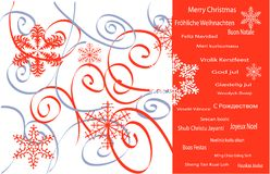 Christmas. Christmas in all the languages Royalty Free Stock Photo