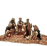 Christmas. Nativity scene, Jesus, Mary, Joseph and the Three Wise Men stock images