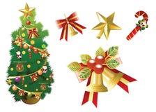 Christmas. Design, big set elements,  illustration Royalty Free Stock Photo