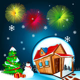 Christmas. This design describes the night of Christmas, Happy New Year Stock Photo