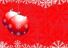 Christmas. Background with snowflakes & ball stock illustration