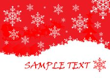 Christmas. Background illustration with snowflakes Royalty Free Stock Photo