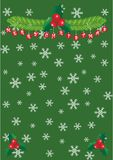 Christmas. Green christmas background template vector illustration