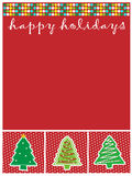 Christmas. An illustration, of a christmas template, can be used as invitation or card royalty free illustration