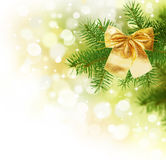 Christmas. Beautiful Christmas Decoration Border.Isolated on white royalty free stock photo
