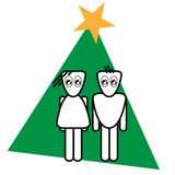 Christmas. With two figures royalty free illustration