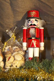Christmas. With nutcracker and biscuits on the market Stock Photos